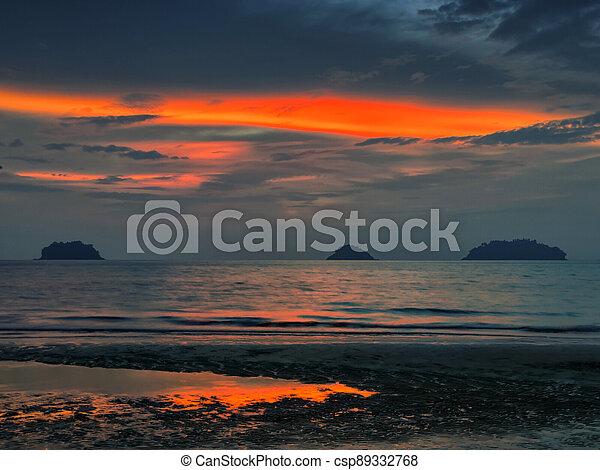 Red sunset - csp89332768