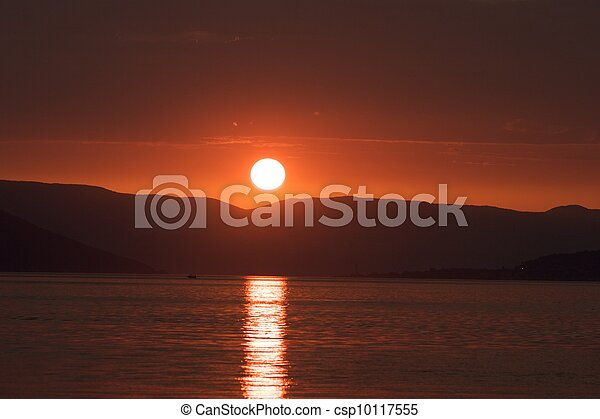 Red sunset - csp10117555