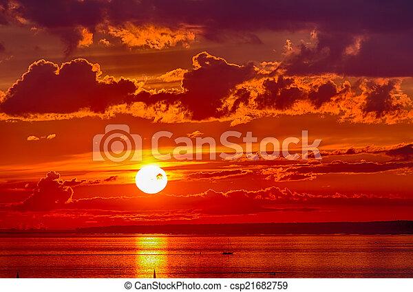 red sunset - csp21682759