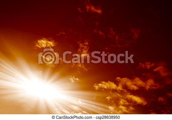 red sunset, - csp28638950