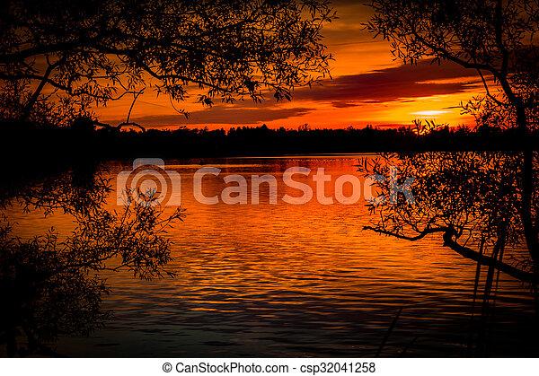 Red Sunset - csp32041258
