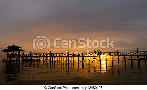 Red sunset - csp12480128