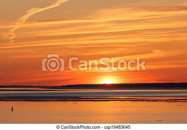 red sunset - csp19483645