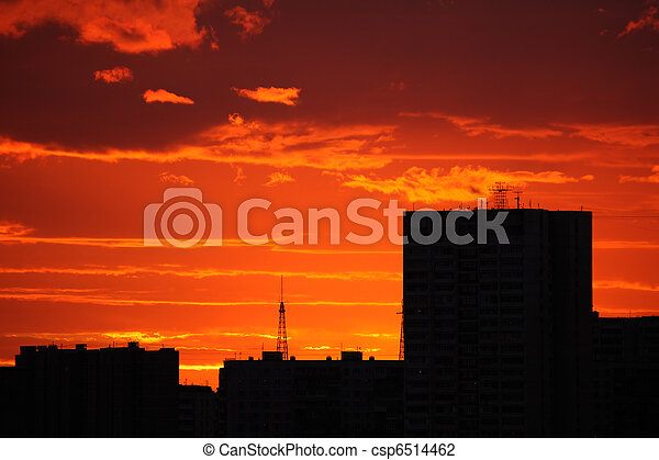 Red sunset - csp6514462