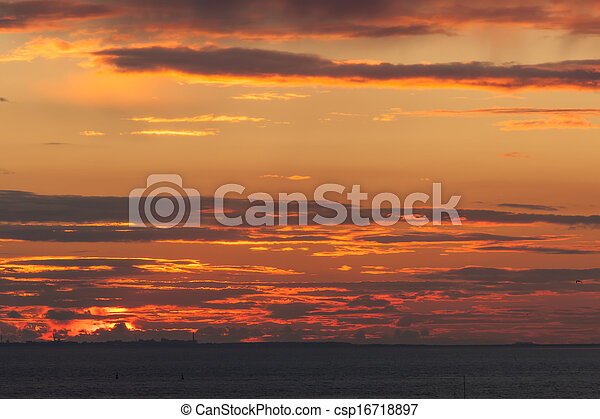 red sunset - csp16718897