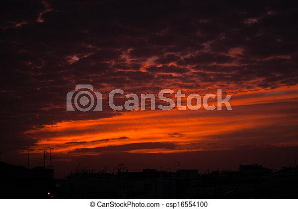 Red sunset - csp16554100