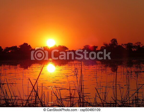 Red sunset - csp50480109