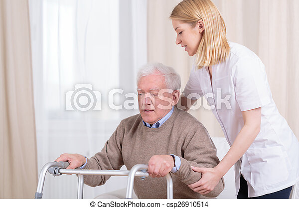 Rehabilitation in nursing home - csp26910514