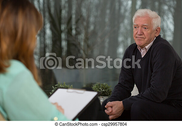 Retired man with depression - csp29957804