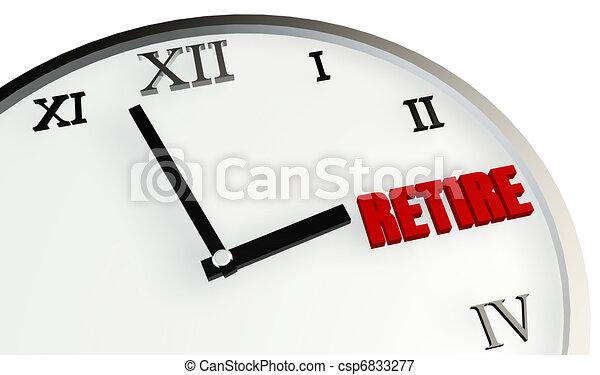 Retirement Time - csp6833277