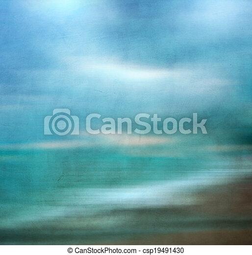 Retro image of sandy beach. - csp19491430