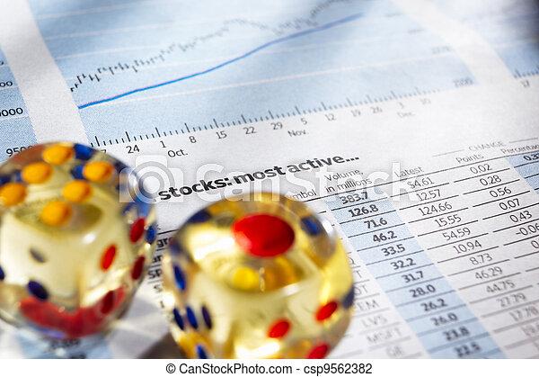 Risk on stock exchange - csp9562382