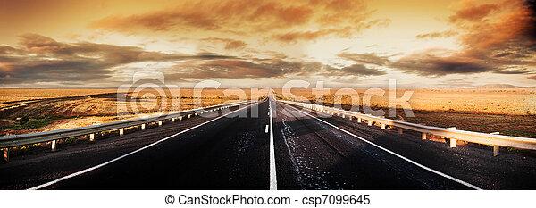 Road Panorama - csp7099645