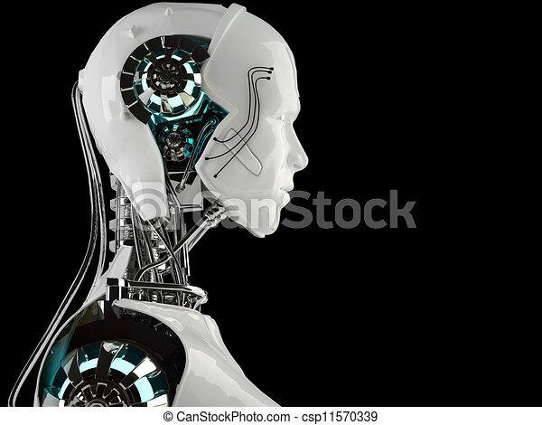 robot android men - csp11570339