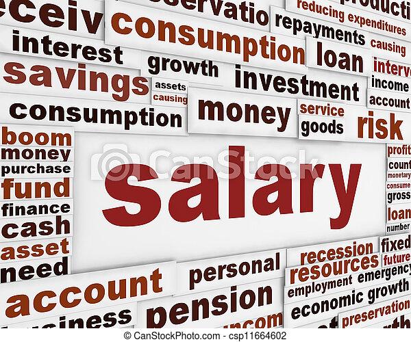 Salary poster design - csp11664602