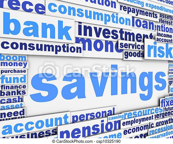 Savings slogan conceptual design - csp10325190