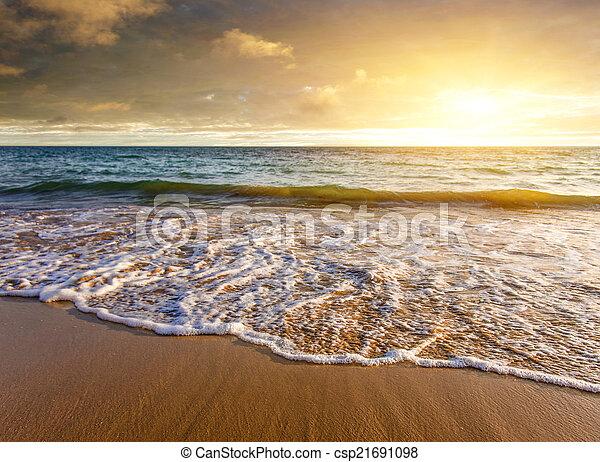 Seashore Sunset - csp21691098
