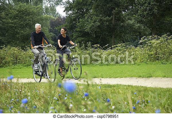 Seniors Biking - csp0798951