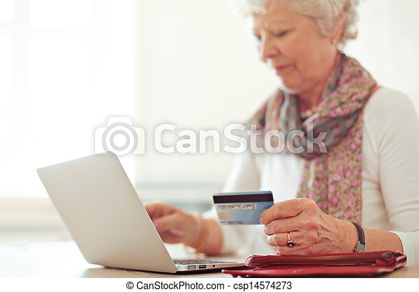 Shopping Online Using a Credit Card - csp14574273
