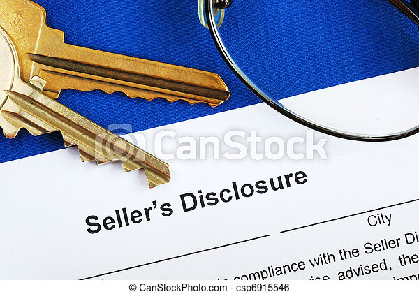 Sign the seller disclosure - csp6915546