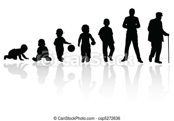 silhouette person - csp5272636