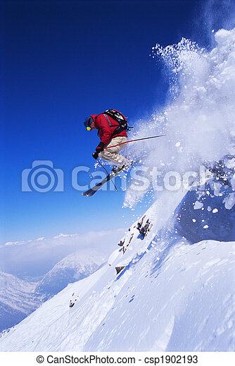 Skier jumping - csp1902193