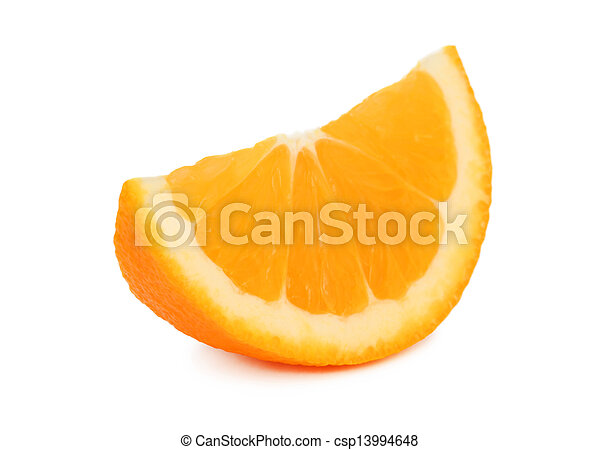 Slice of ripe orange (isolated) - csp13994648