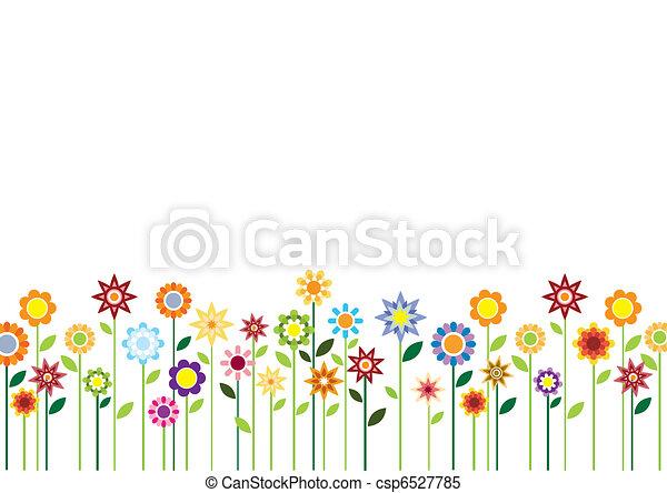 Spring flowers vector - csp6527785