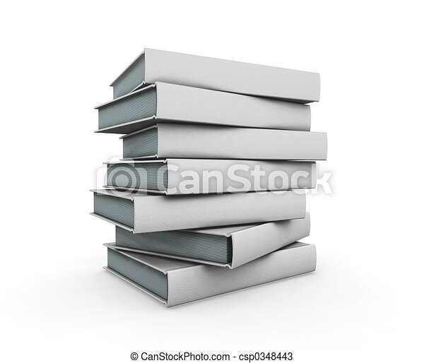 Stack of books - csp0348443