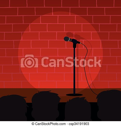 stand up comedy - csp34191903
