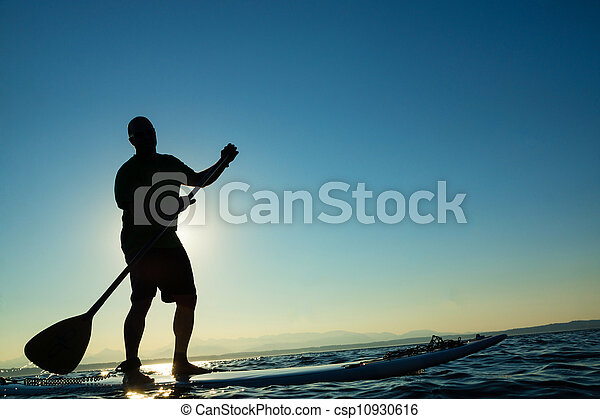 Stand Up Paddle Board-Man - csp10930616