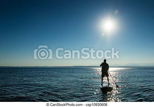 Stand Up Paddle Board-Man - csp10930606