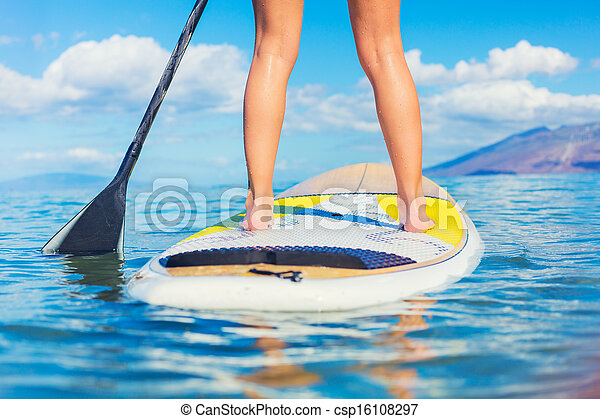 Stand Up Paddle Surfing In Hawaii - csp16108297