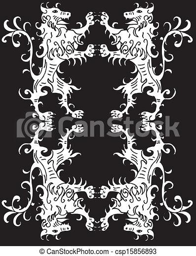 Standing Proud Lion vector art - csp15856893
