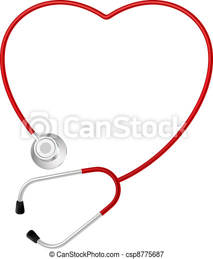 Stethoscope heart symbol - csp8775687