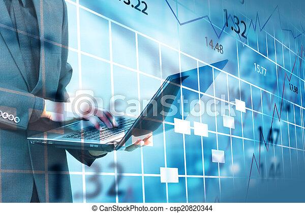 Stock exchange chart. - csp20820344