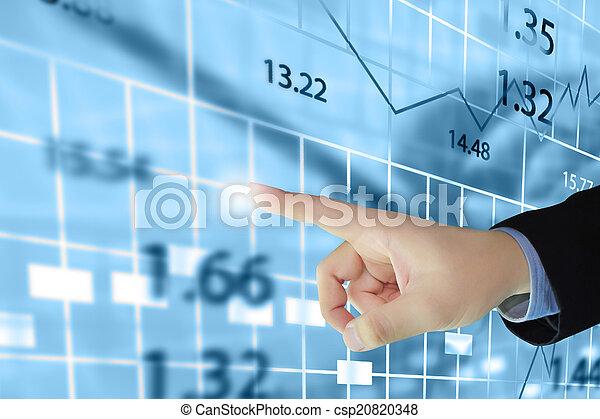 Stock exchange chart. - csp20820348