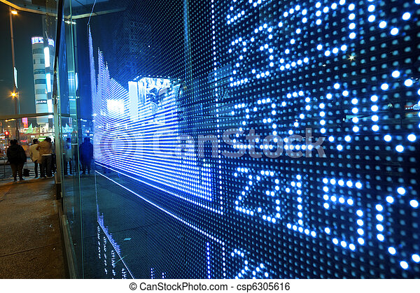 Stock ticker board at the stock exchange - csp6305616