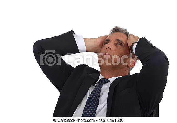 Stressed out businessman - csp10491686