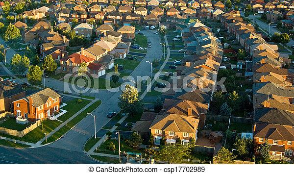 Suburban Neighbourhood - csp17702989