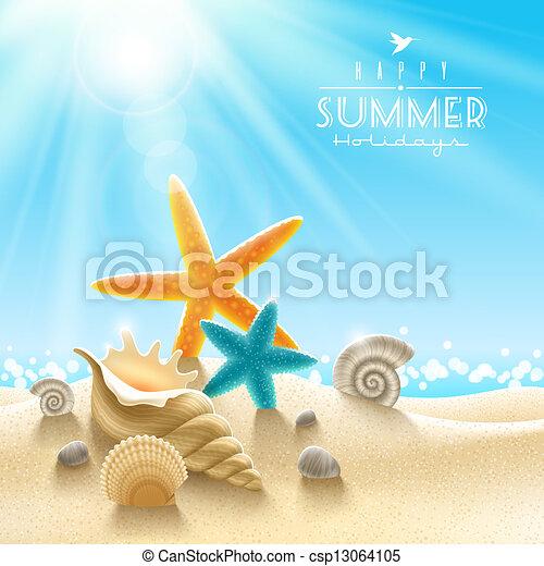 Summer holidays illustration - csp13064105
