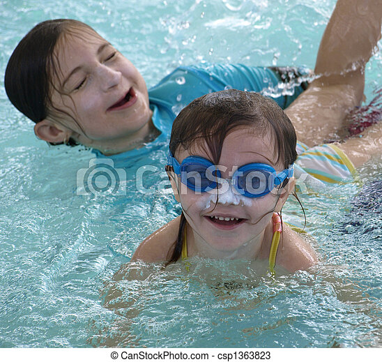 Summer time fun in the water - csp1363823