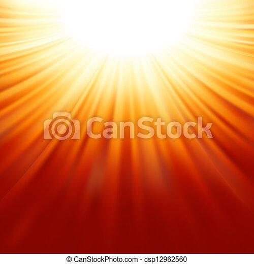Sunburst rays of sunlight tenplate. EPS 8 - csp12962560
