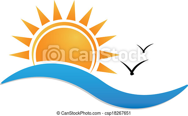 Sunset beach logo - csp18267651