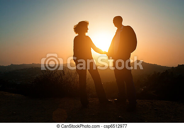 Sunset couple - csp6512977