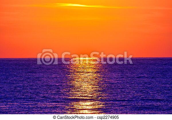 Sunset. Crete, Greece. - csp2274905