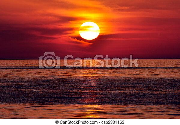 Sunset. Crete, Greece. - csp2301163