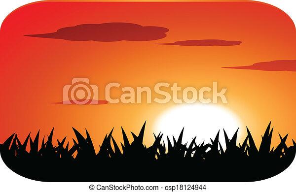 sunset - csp18124944