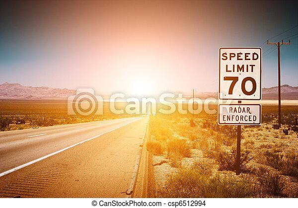 Sunset highway - csp6512994