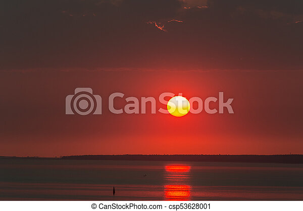 sunset over the sea - csp53628001